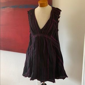 Free people black and purple dress